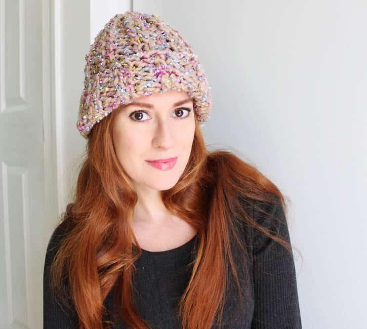 Layered Yarn Beanie Knitting Pattern Gina Michele