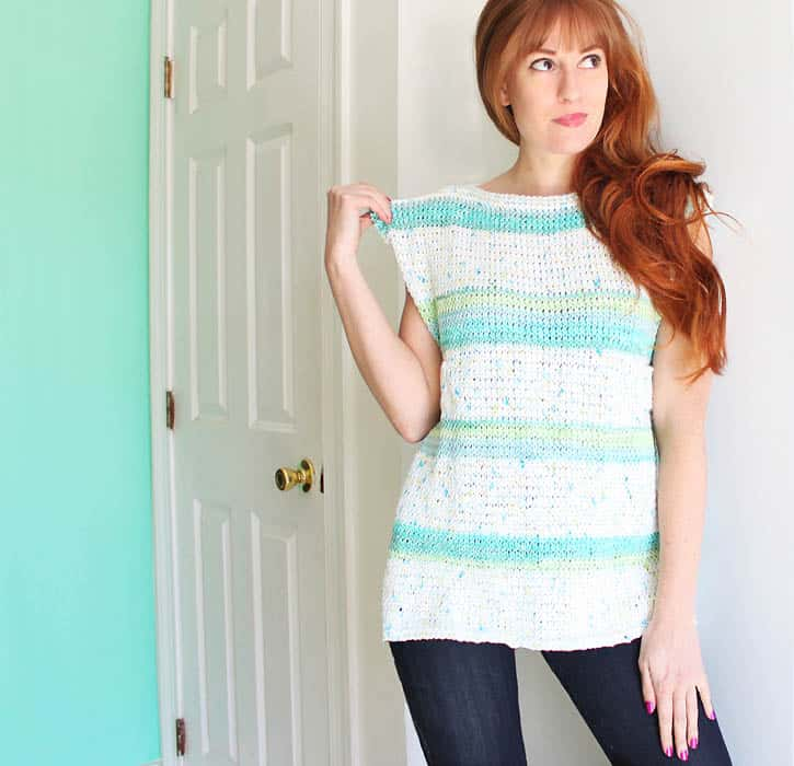 Diy Paneled Tank Knitting Pattern Gina Michele