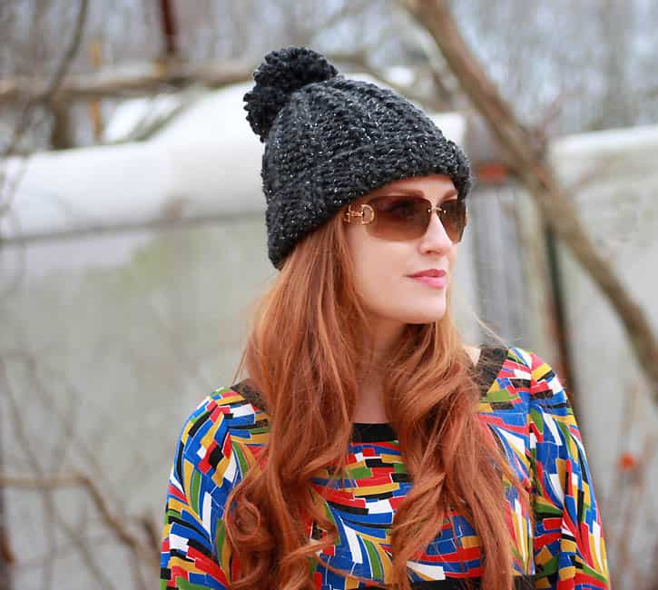 3 Hour Chunky Ribbed Hat [knitting pattern] - Gina Michele