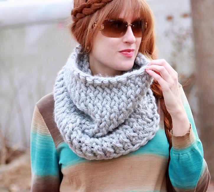 Super Chunk Cowl Knitting Pattern Gina Michele