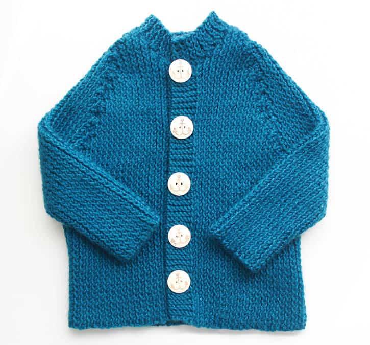 Ribbed Baby Cardigan Knitting Pattern Gina Michele