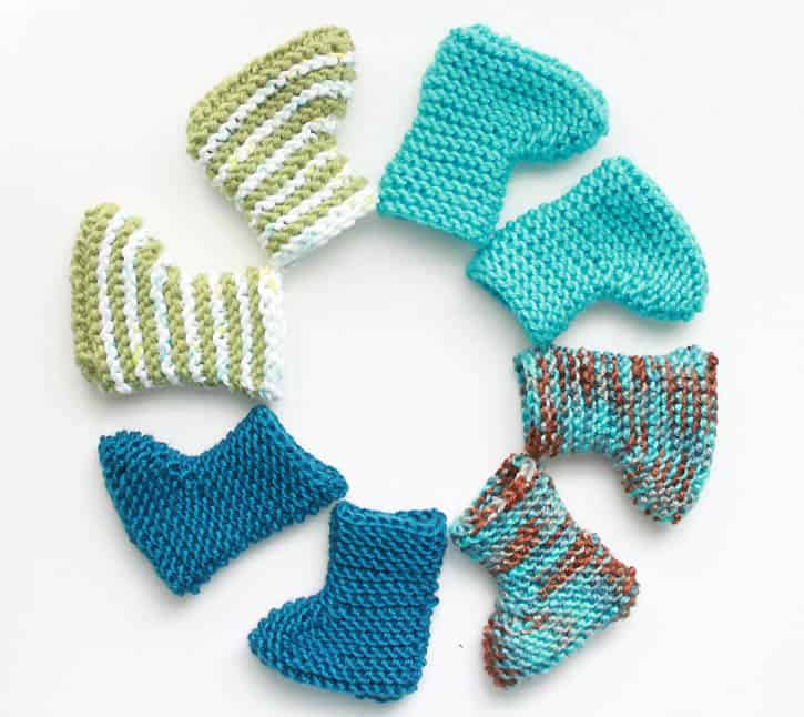 Easy Knit Newborn Baby Booties Gina Michele
