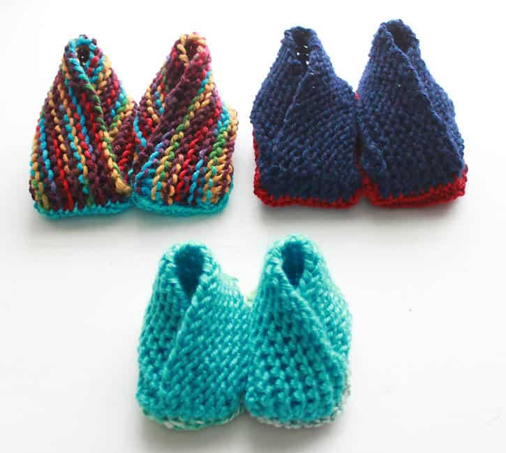 Crossover Booties Now With Additional Sizes Knitting Pattern