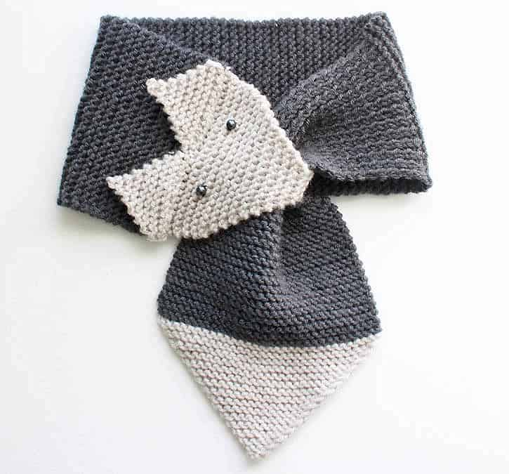 Fox Scarf Knitting Pattern Women Child Sizes Gina Michele