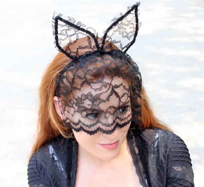 DIY Veiled Cat Ear Headband - Gina Michele