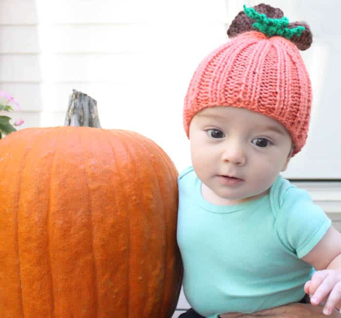 Baby Pumpkin Hat Knitting Pattern Gina Michele