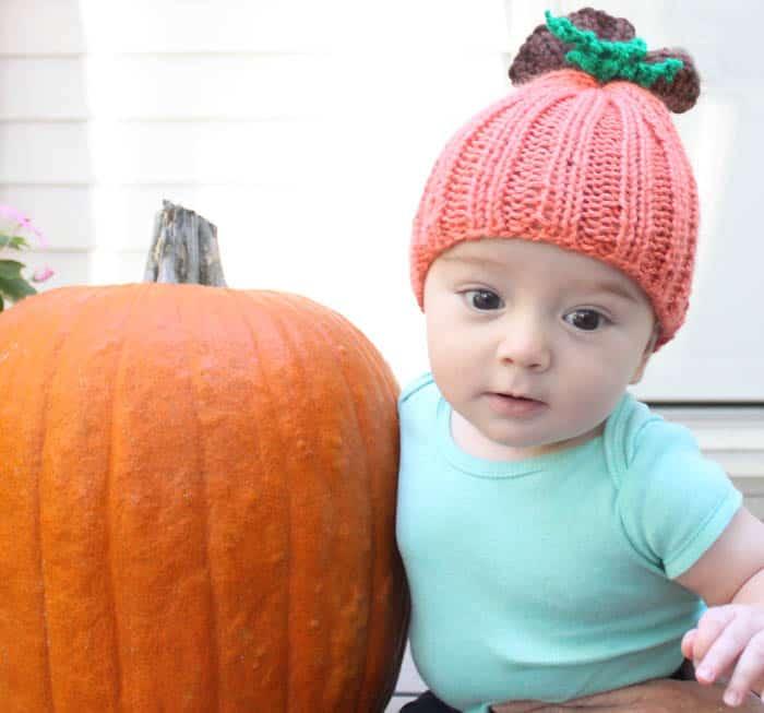 0110dab13 Baby Pumpkin Hat Knitting Pattern - Gina Michele
