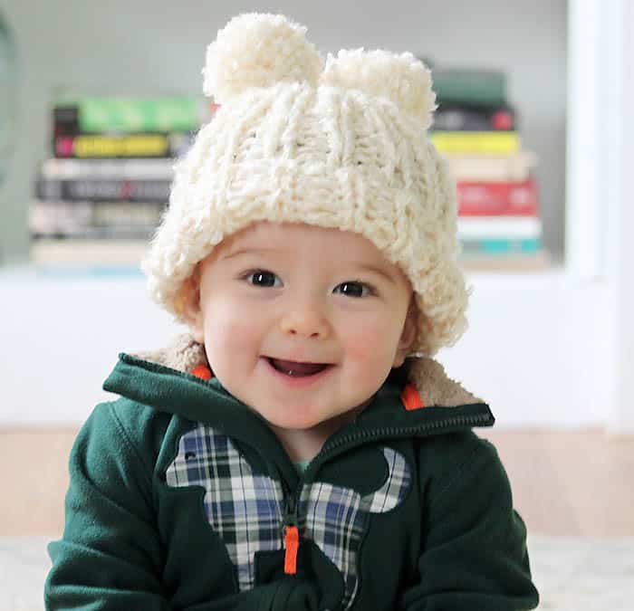 Baby Snow Angel Hat Knitting Pattern Gina Michele