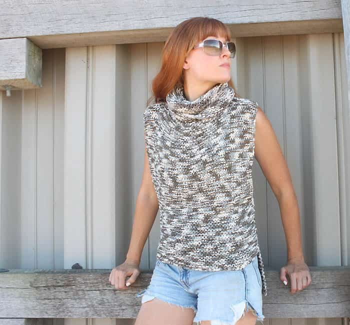 Super Easy 3 Square Sweater Knitting Pattern Gina Michele