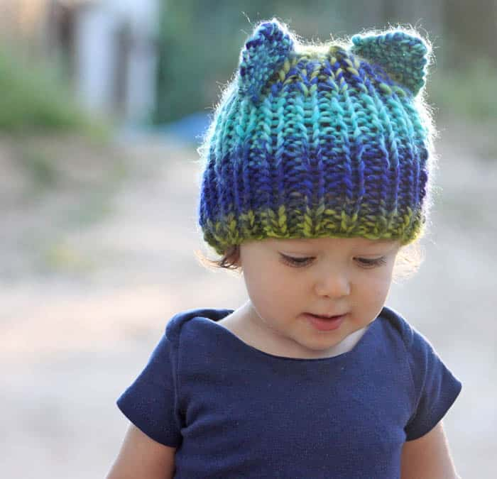 Toddler Bear Hat Knitting Pattern Gina Michele
