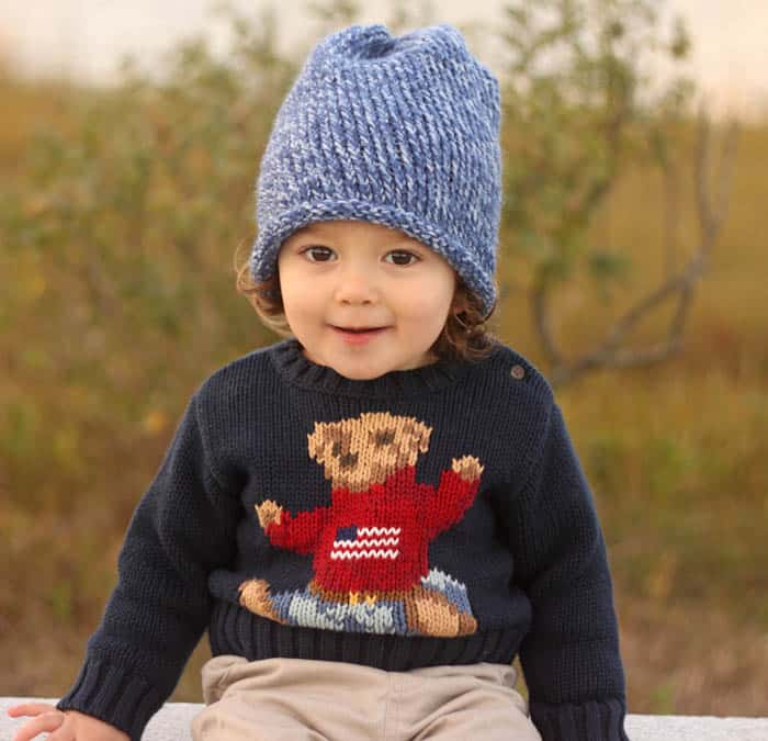 Toddler Slouch Beanie Knitting Pattern Gina Michele