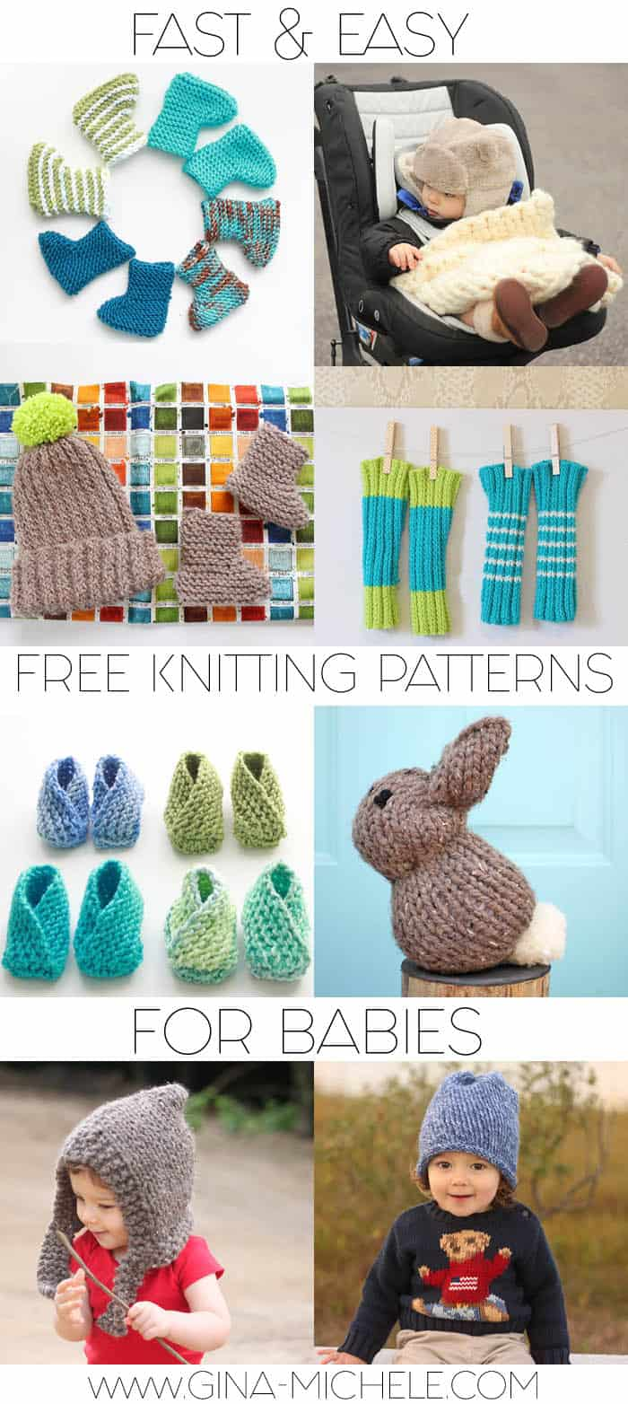 Fast & Easy Free Knitting Patterns for Babies - Gina Michele