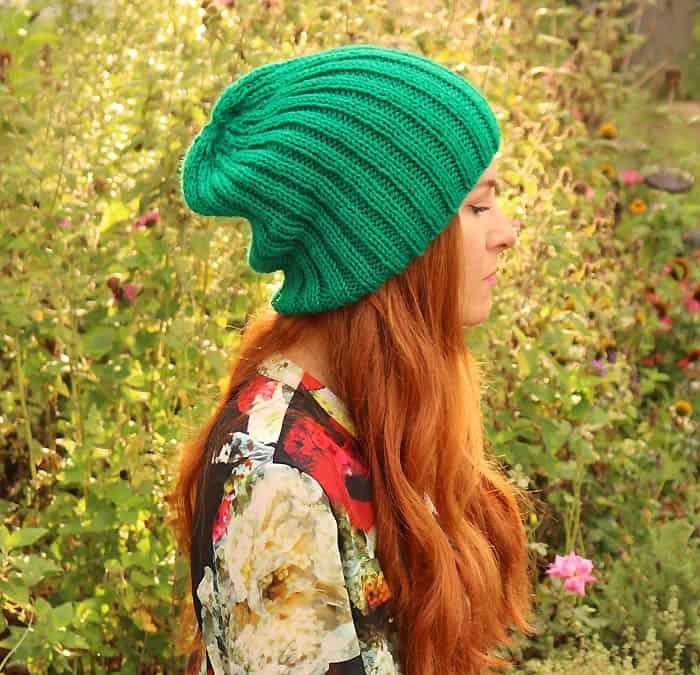 Slouch Beanie Knitting Pattern Gina Michele