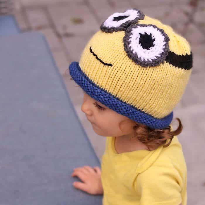 Minion Hat Free Knitting Pattern Perfect For Halloween Gina Michele