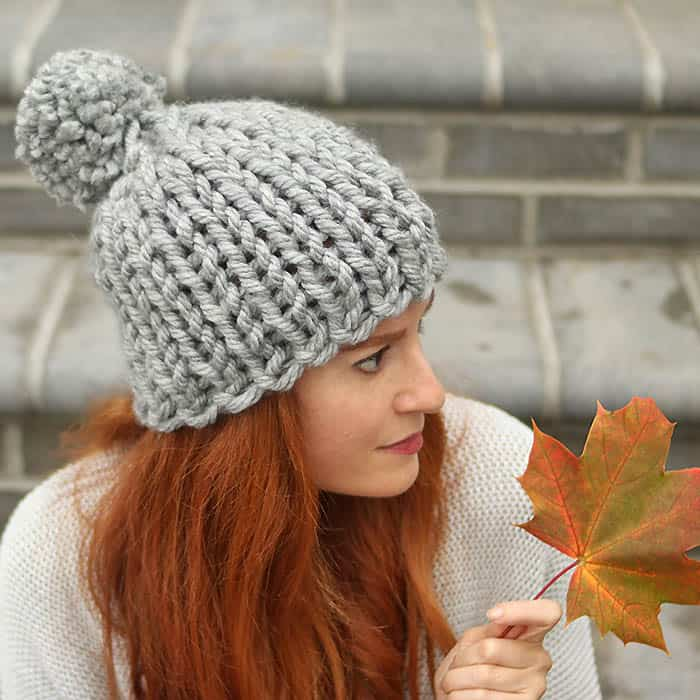 Flat Knit Chunky Hat