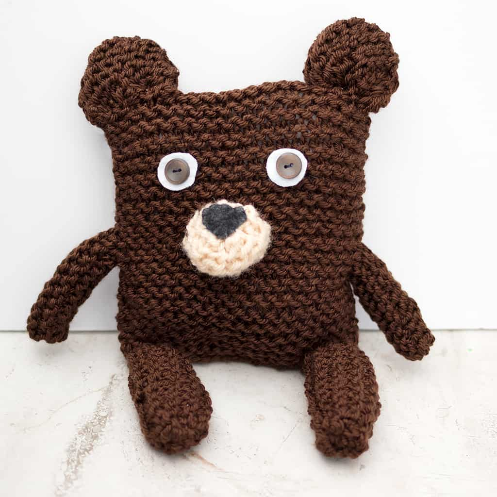 Square Bear Knitting Pattern - Gina Michele