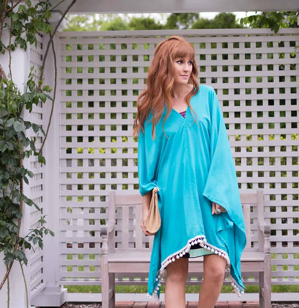 How To Sew An Easy Caftan Dress No Pattern Needed Gina