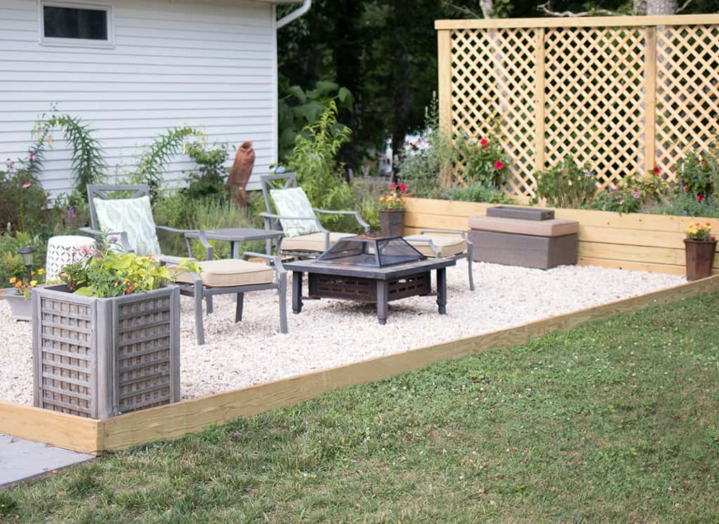 Pea Gravel Patio DIY - Gina Michele on Pea Gravel Yard Ideas id=49444