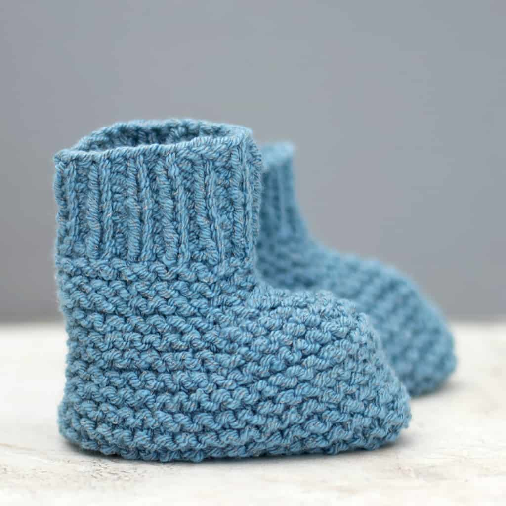 Knitting Booties For Babies Video