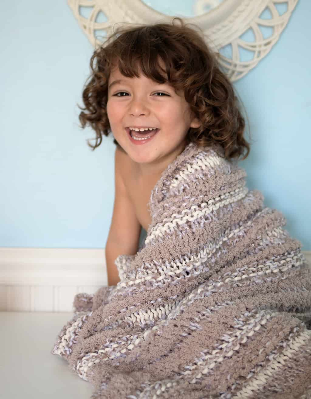 Easy Baby Blanket Knitting Pattern Gina Michele