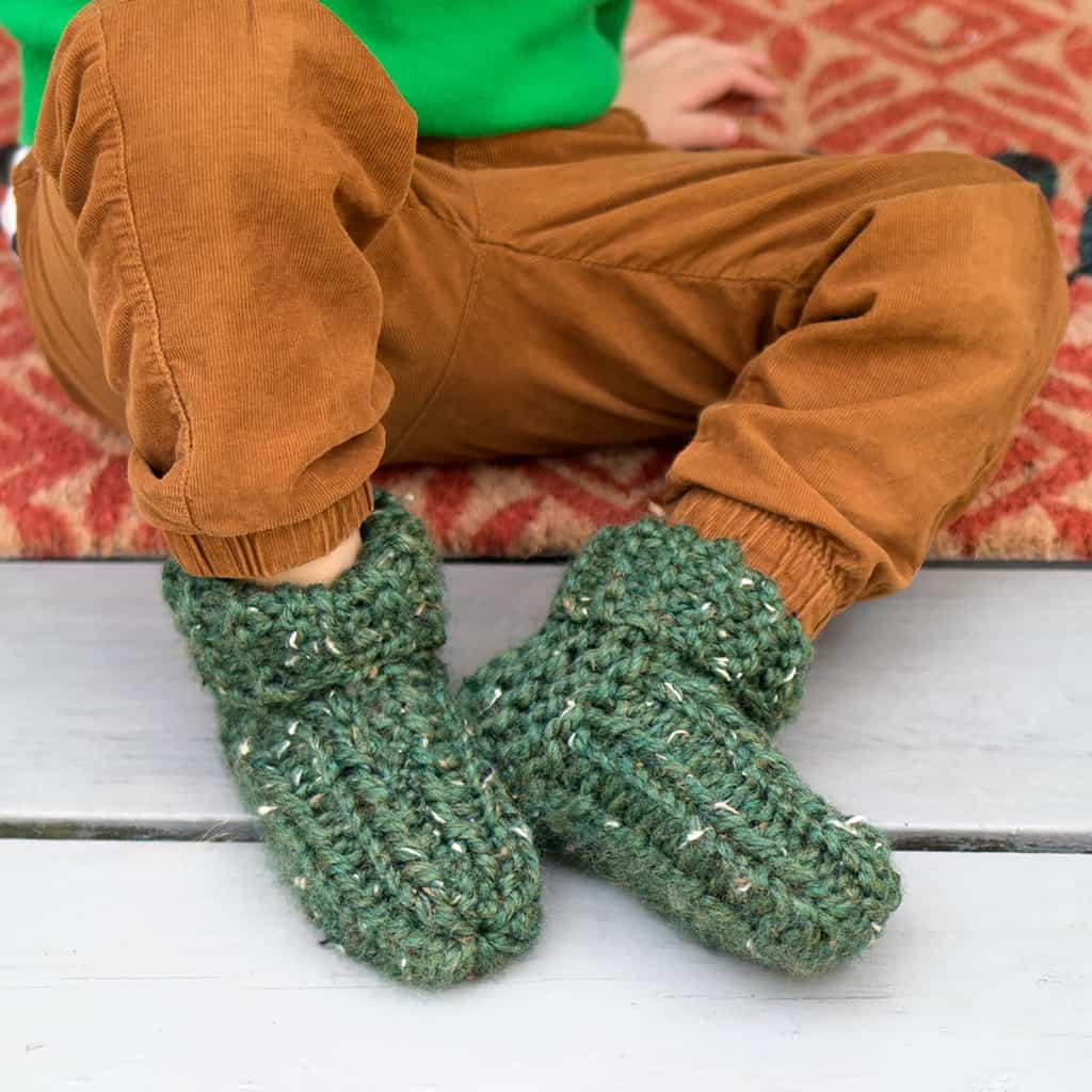 Flat Knit Kid's Slippers - Gina Michele