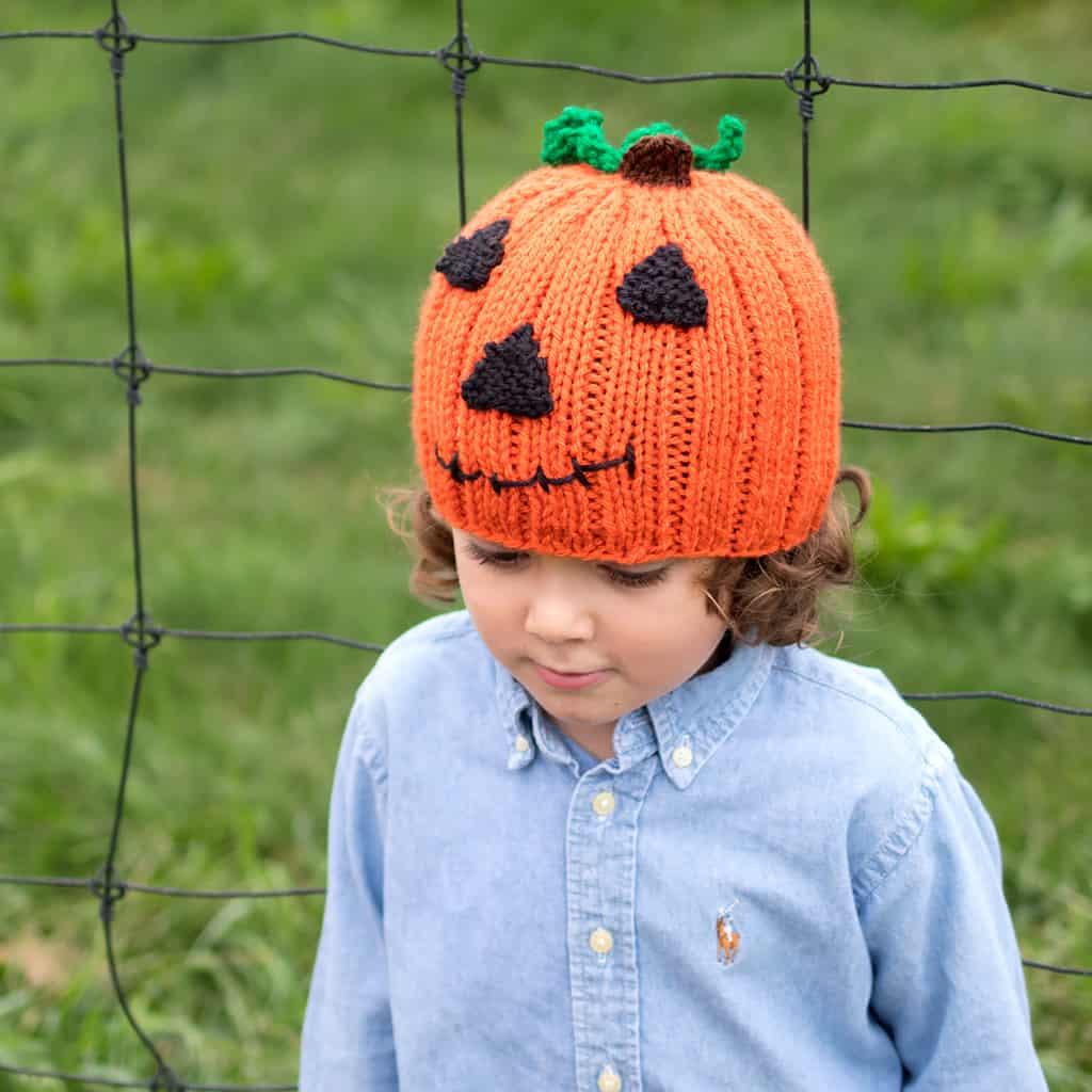 Jack O Lantern Hat Knitting Pattern Gina Michele