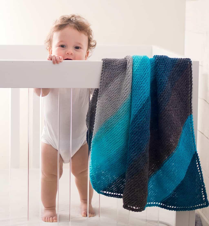 Beginner Hooded Baby Blanket Knitting Pattern Gina Michele